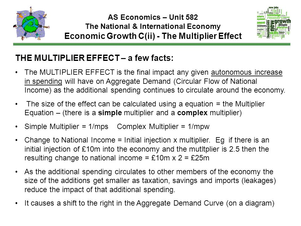 THE MULTIPLIER EFFECT – a few facts: