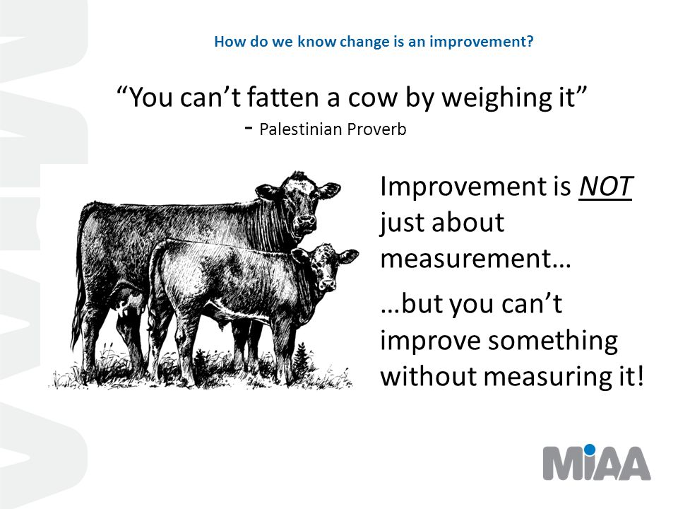How do we know change is an improvement