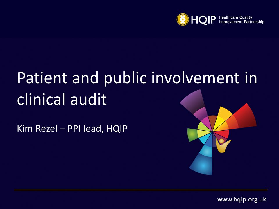 patient and public involvement in clinical audit - ppt video, Presentation templates