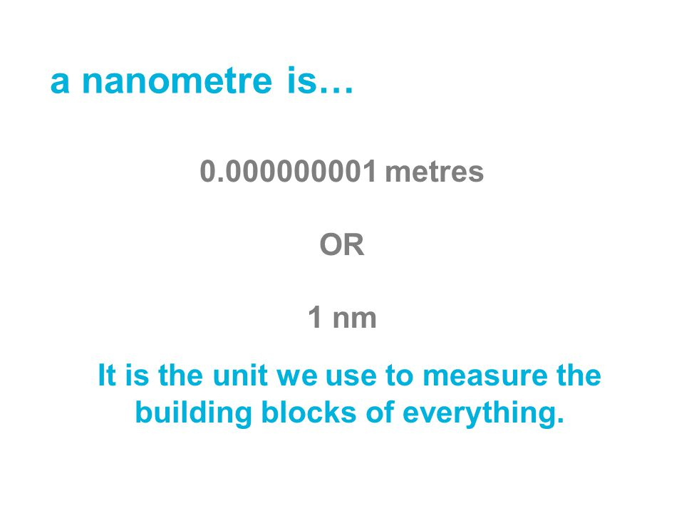 It is the unit we use to measure the building blocks of everything.