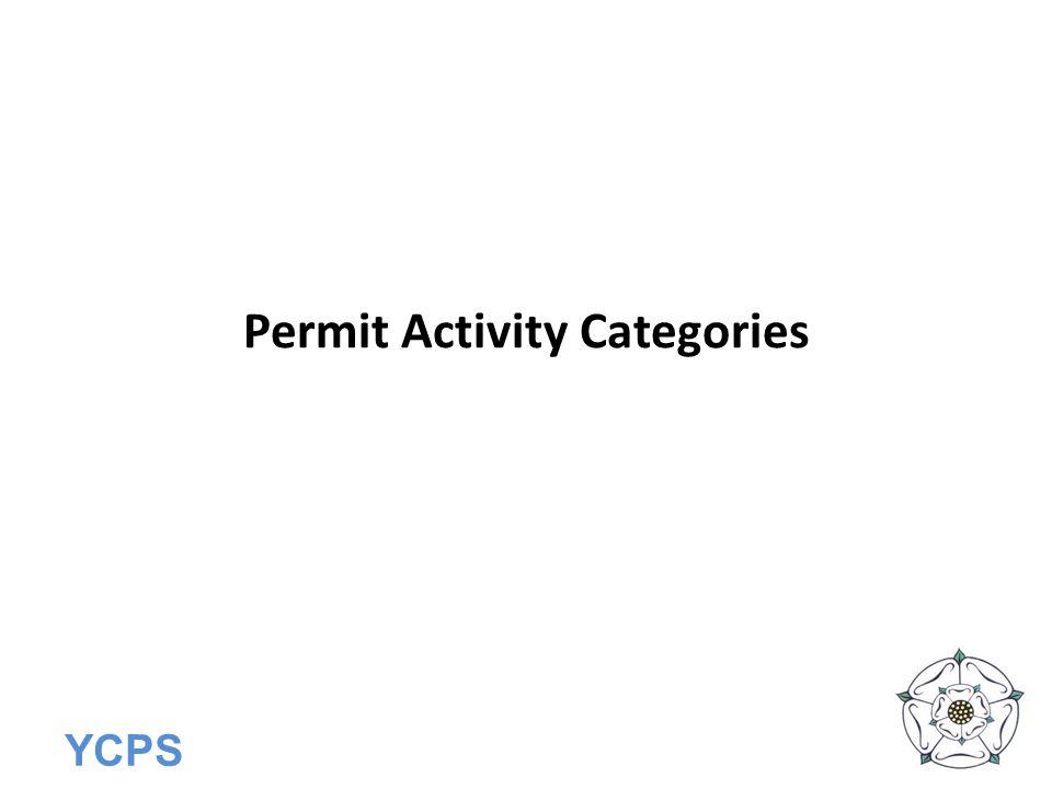 Permit Activity Categories
