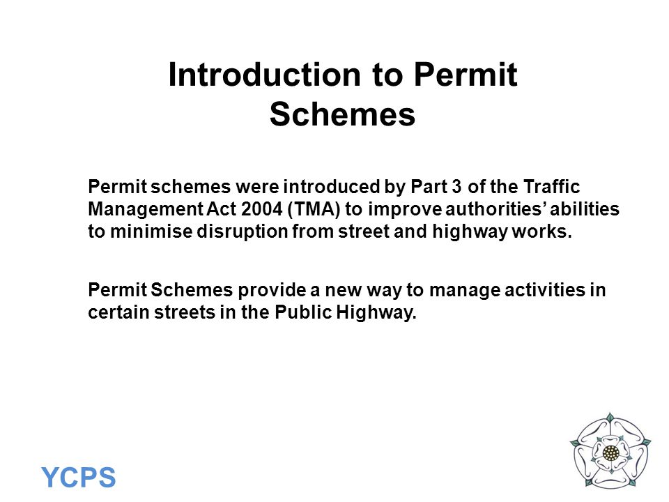 Introduction to Permit Schemes