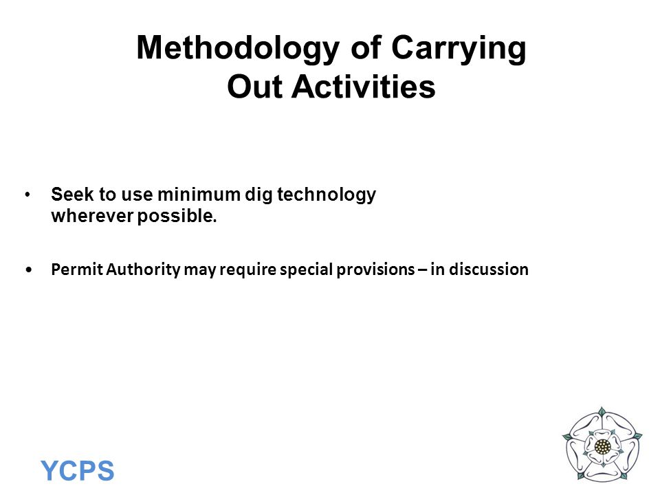 Methodology of Carrying