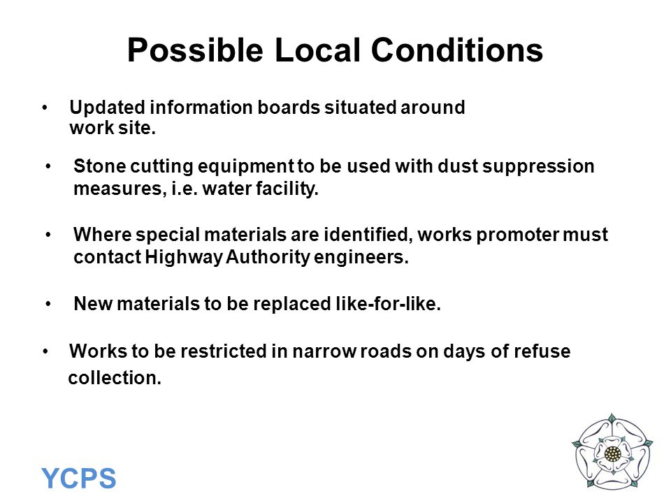Possible Local Conditions