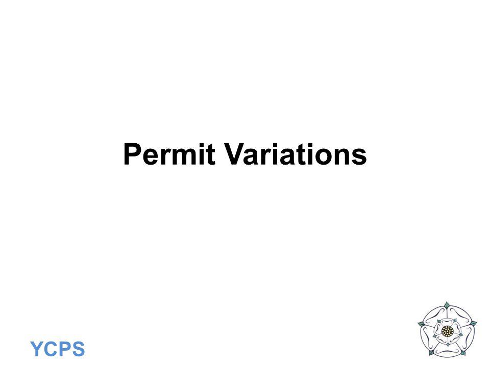 Permit Variations