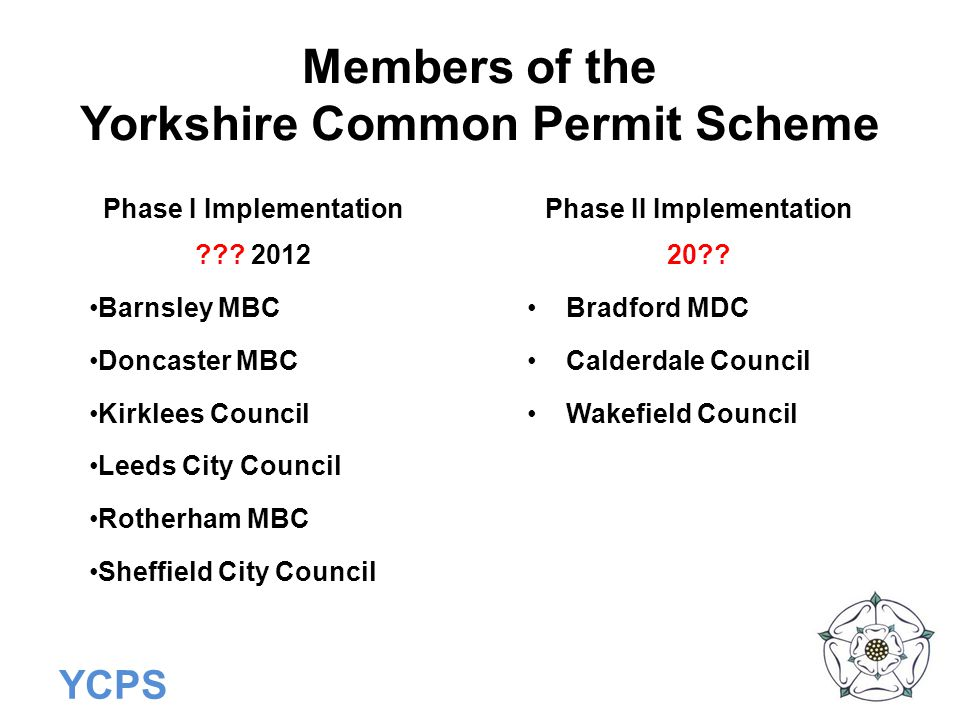 Members of the Yorkshire Common Permit Scheme