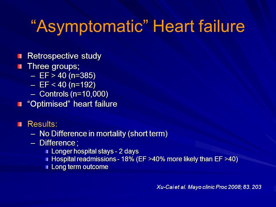 Asymptomatic Heart failure