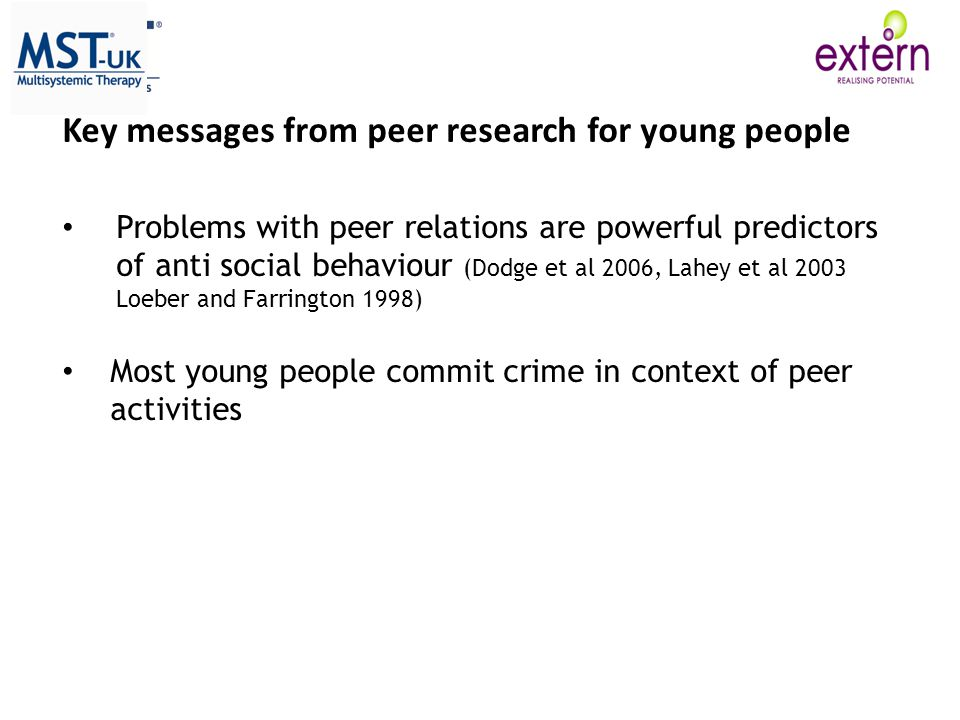 Key messages from peer research for young people