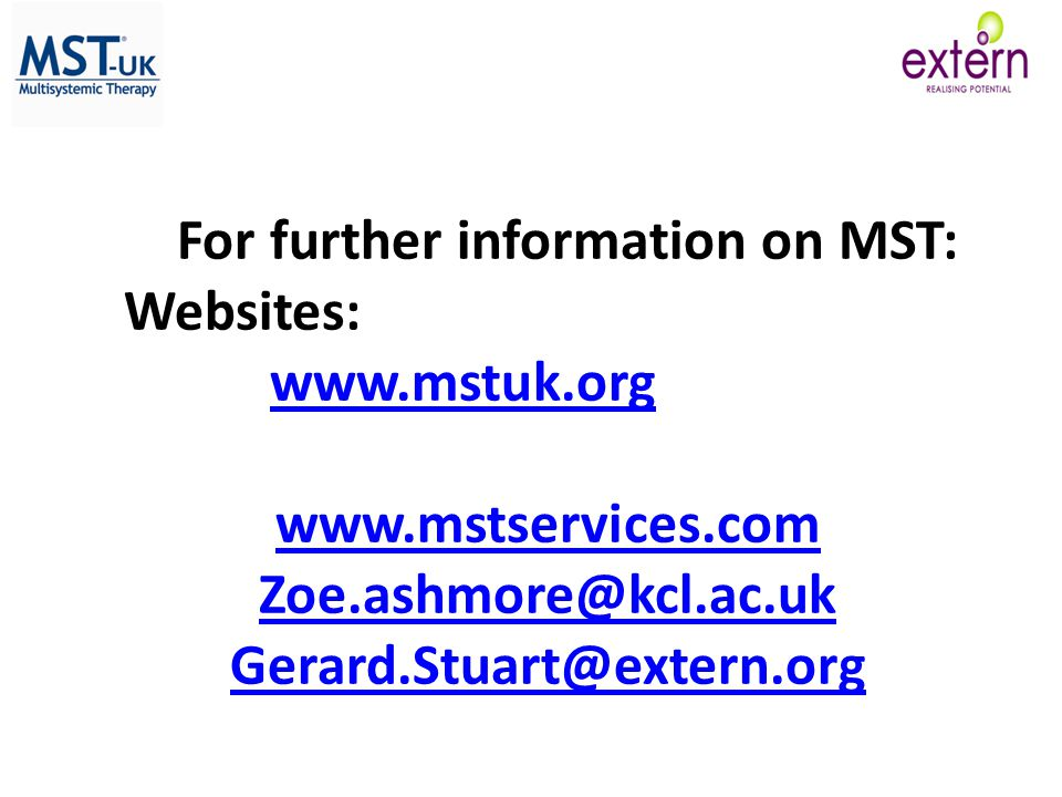 For further information on MST:
