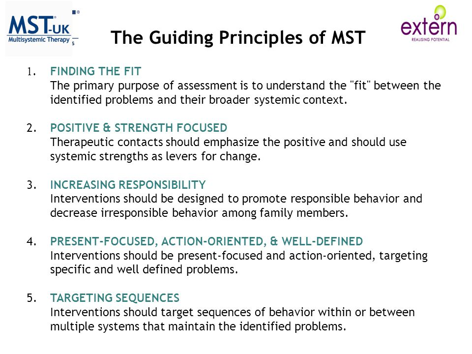 The Guiding Principles of MST