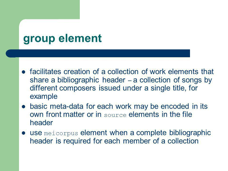 group element