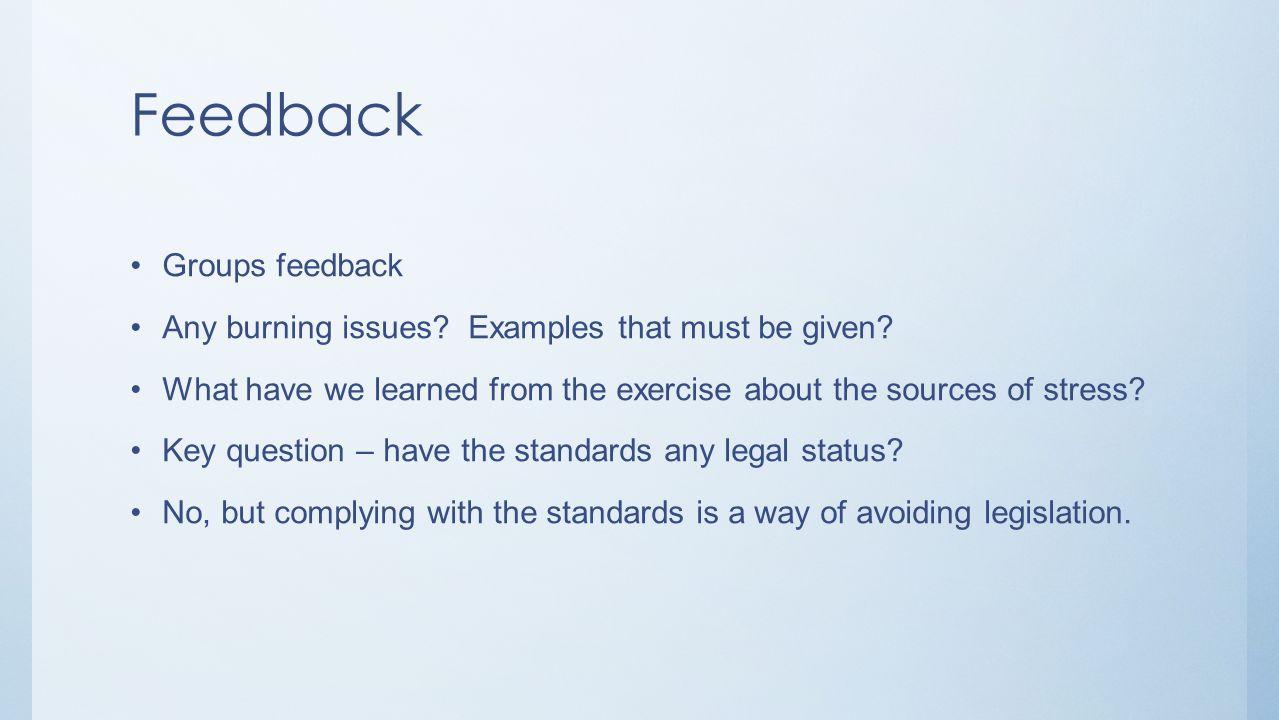 Feedback Groups feedback