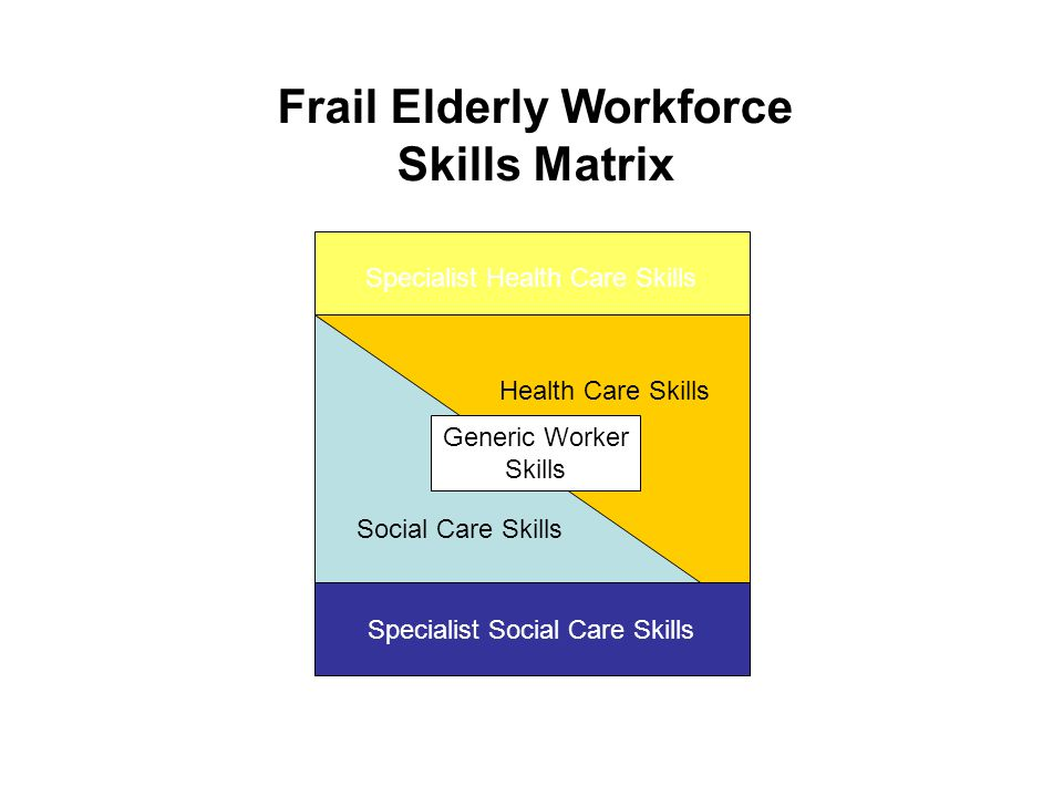 Frail Elderly Workforce Skills Matrix