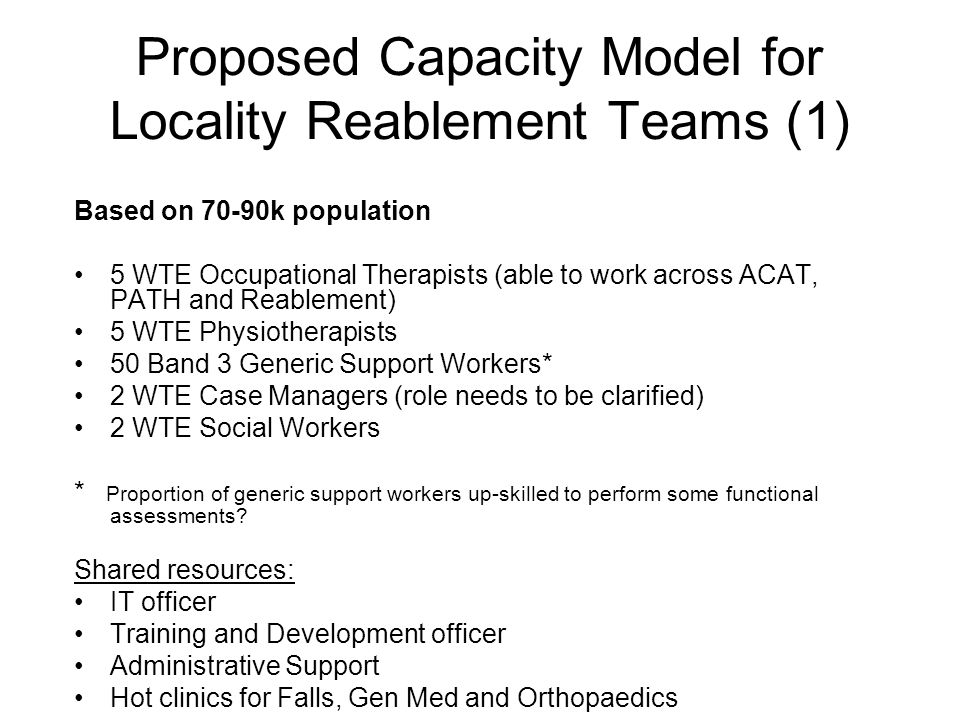 Proposed Capacity Model for Locality Reablement Teams (1)