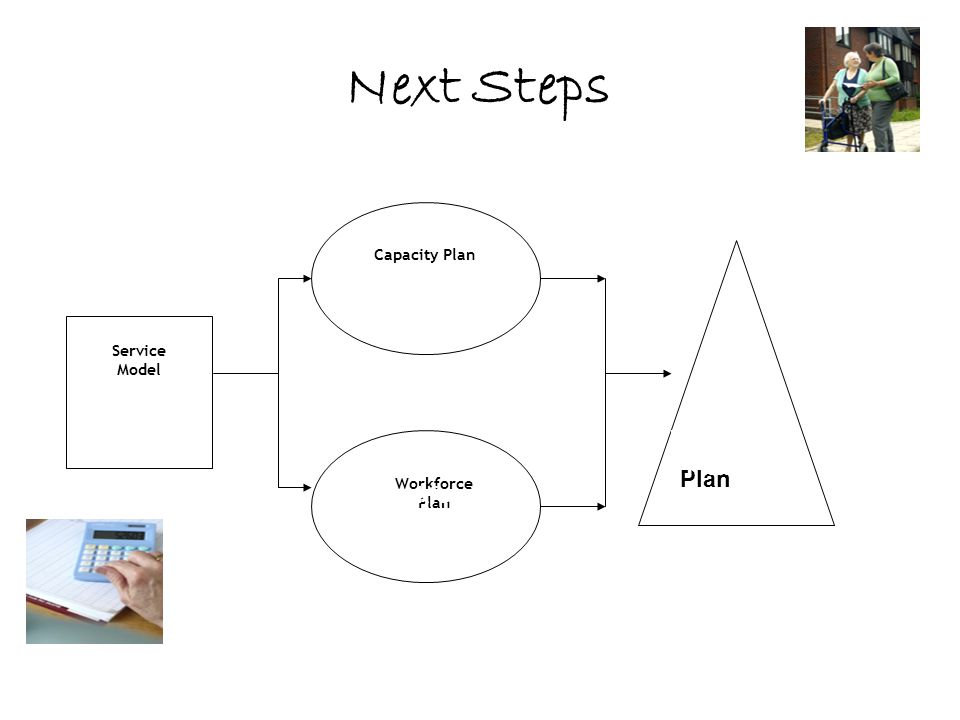 Next Steps Capacity Plan Service Model Financial Plan Workforce Plan