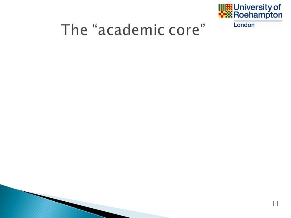 The academic core