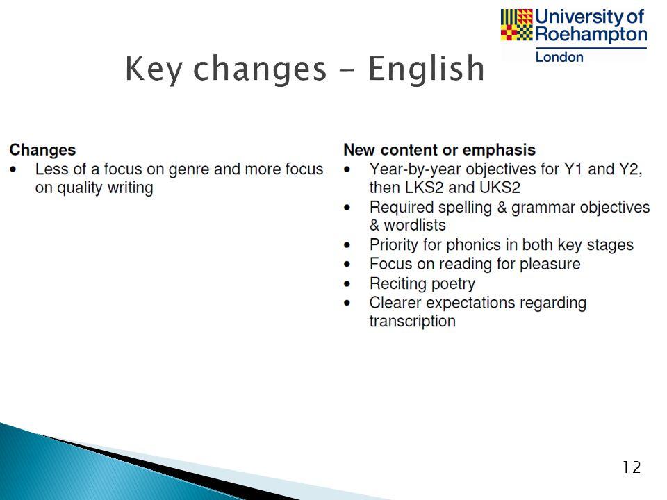 Key changes - English