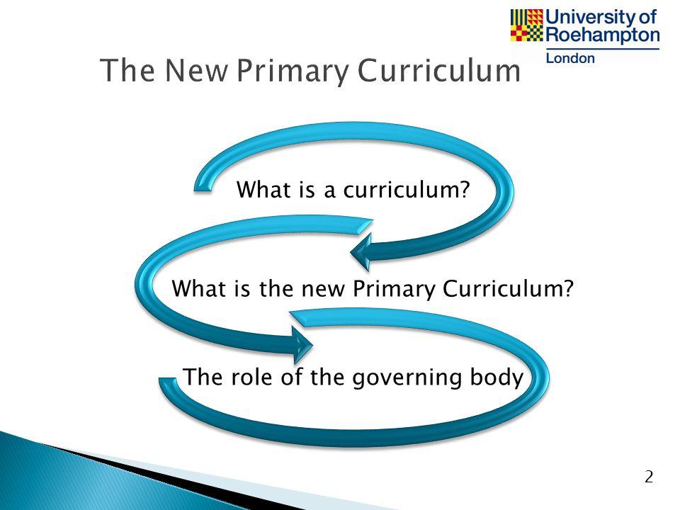 The New Primary Curriculum