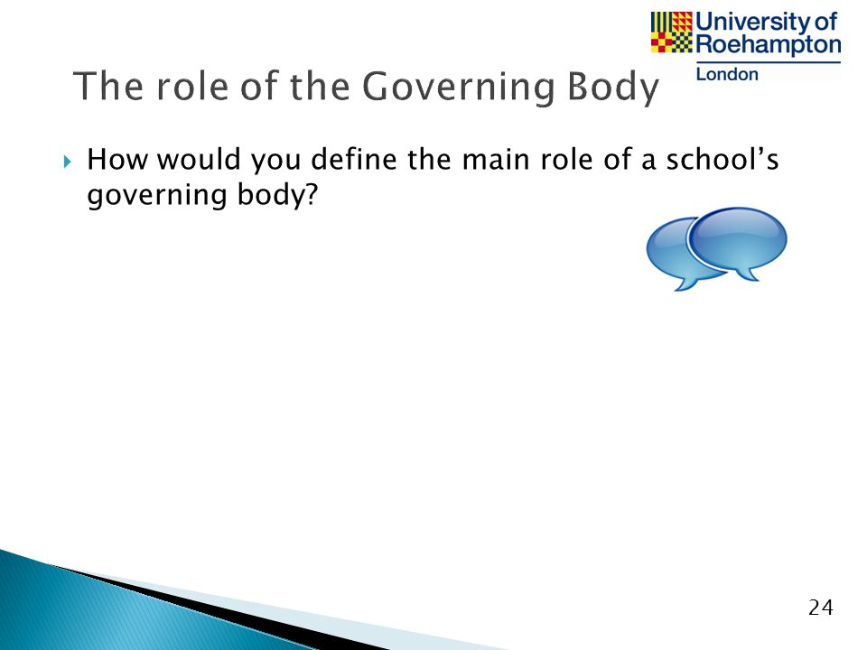 The role of the Governing Body