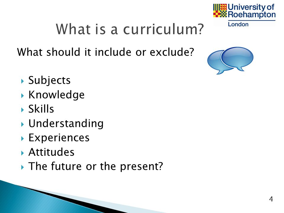 What is a curriculum What should it include or exclude Subjects