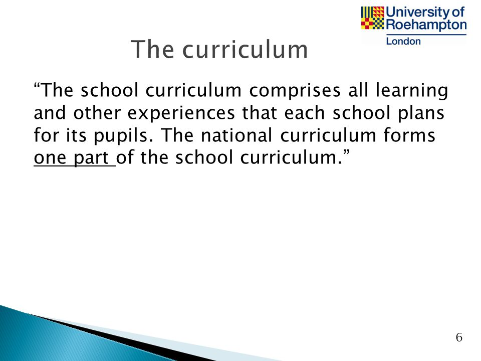 The curriculum