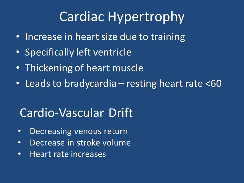 Cardiac Hypertrophy Cardio-Vascular Drift