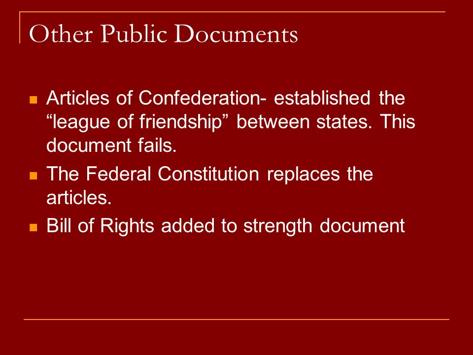Other Public Documents