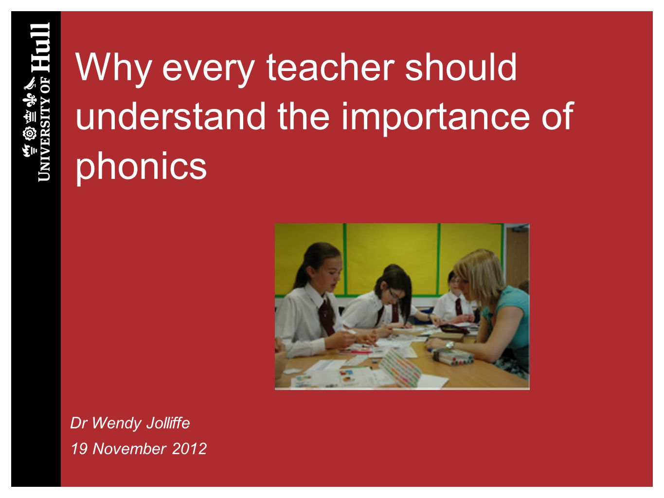 Why every teacher should understand the importance of phonics