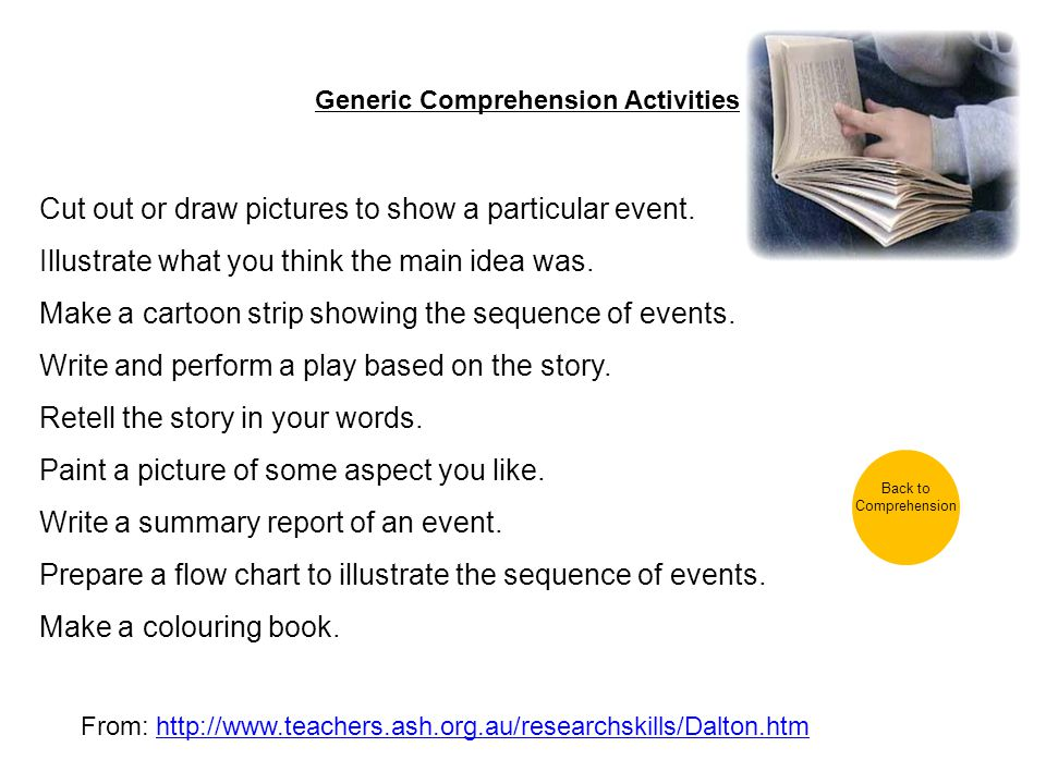 Generic Comprehension Activities