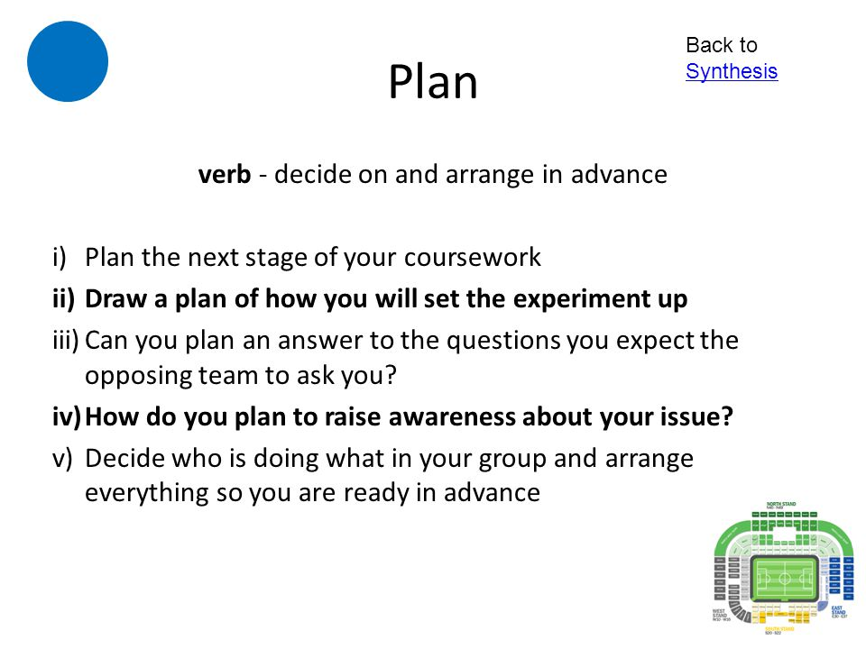 verb - decide on and arrange in advance