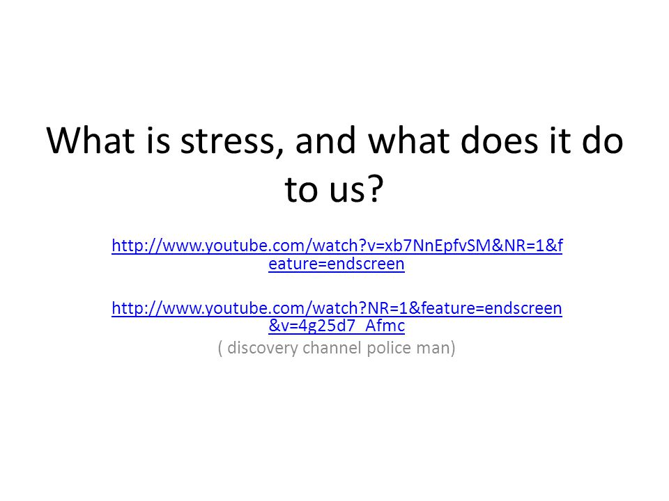 What is stress, and what does it do to us