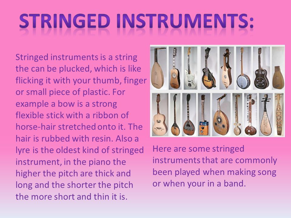 Stringed instruments: