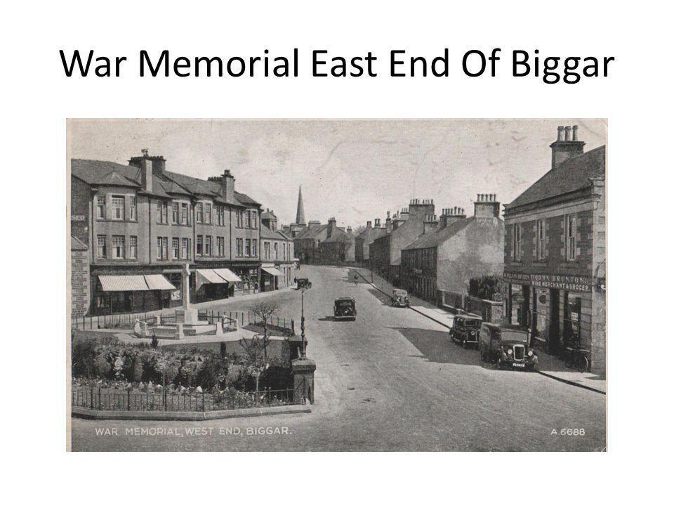 War Memorial East End Of Biggar