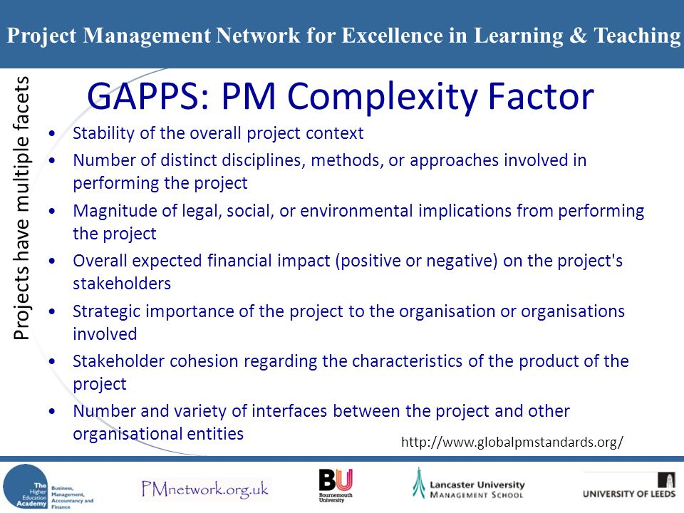 GAPPS: PM Complexity Factor
