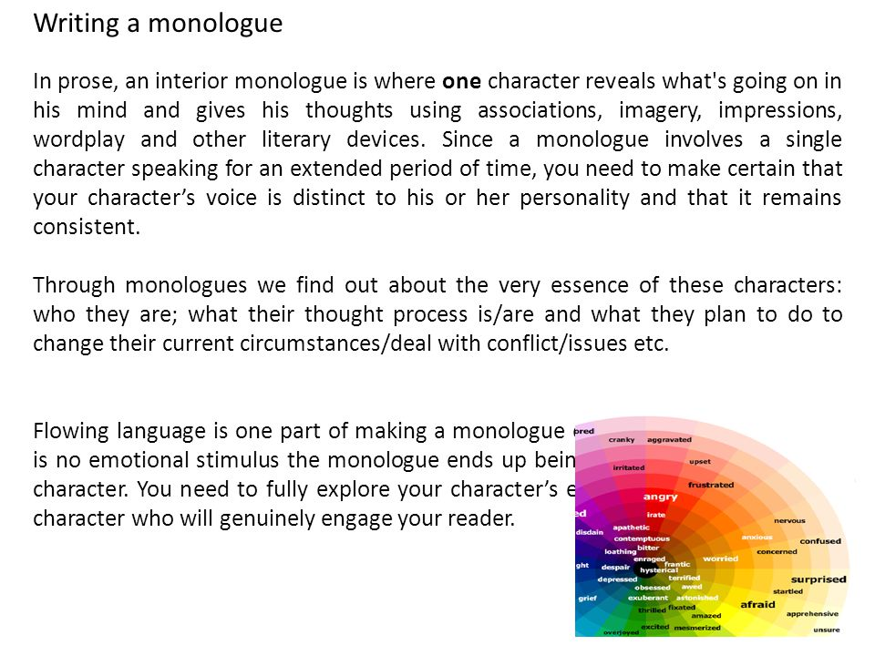 a monologue for love essay Dramatic monologue poems | examples of dramatic monologue poetry dramatic monologue poems below are examples of dramatic monologue poems this list of poetry in the dramatic monologue format or form is composed of the works from modern international poet members of poetrysoup.