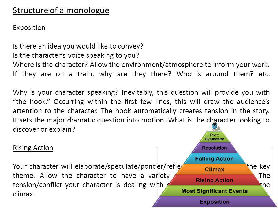 Structure of a monologue