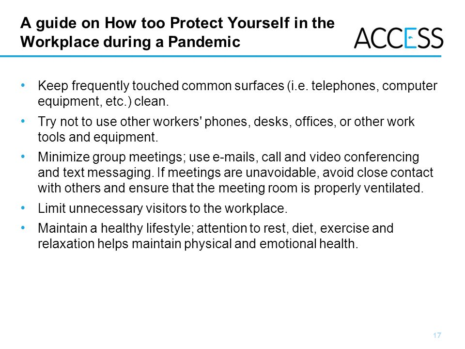 A guide on How too Protect Yourself in the Workplace during a Pandemic