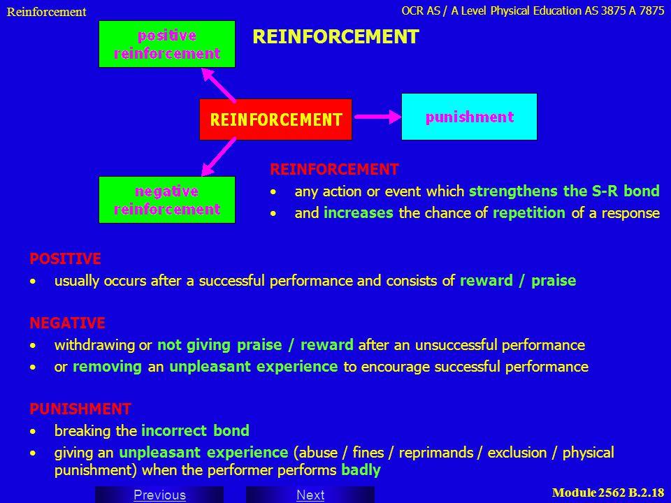 REINFORCEMENT REINFORCEMENT