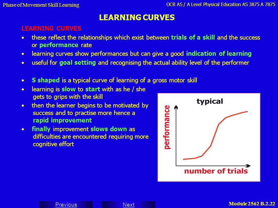 LEARNING CURVES LEARNING CURVES