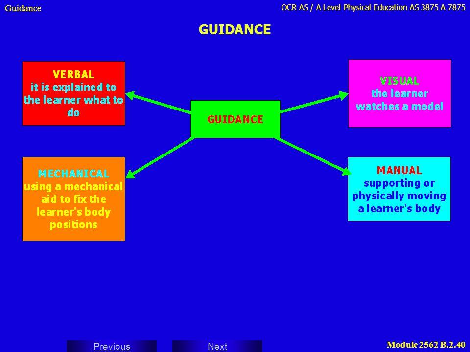 Guidance GUIDANCE