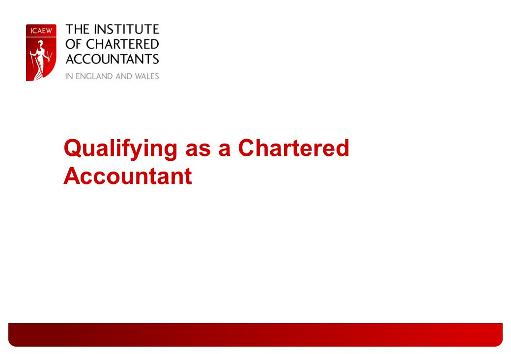 Qualifying as a Chartered Accountant