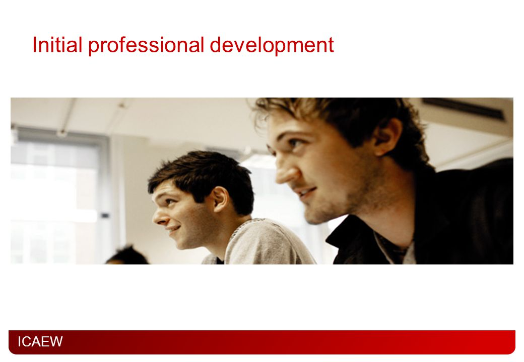 Initial professional development