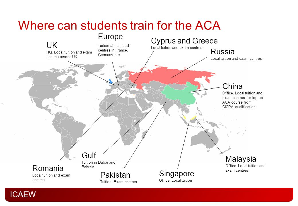 Where can students train for the ACA
