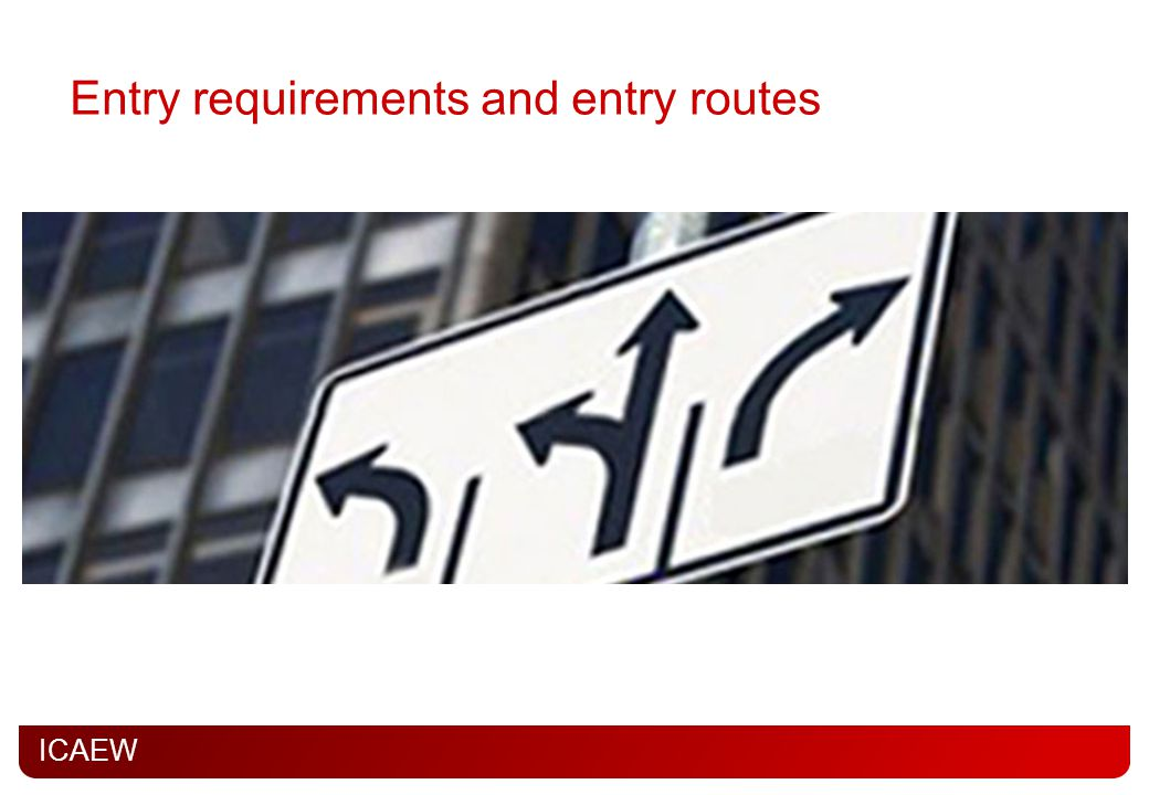 Entry requirements and entry routes
