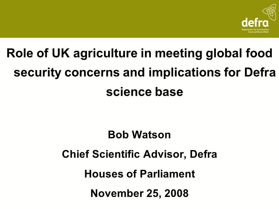 Chief Scientific Advisor, Defra