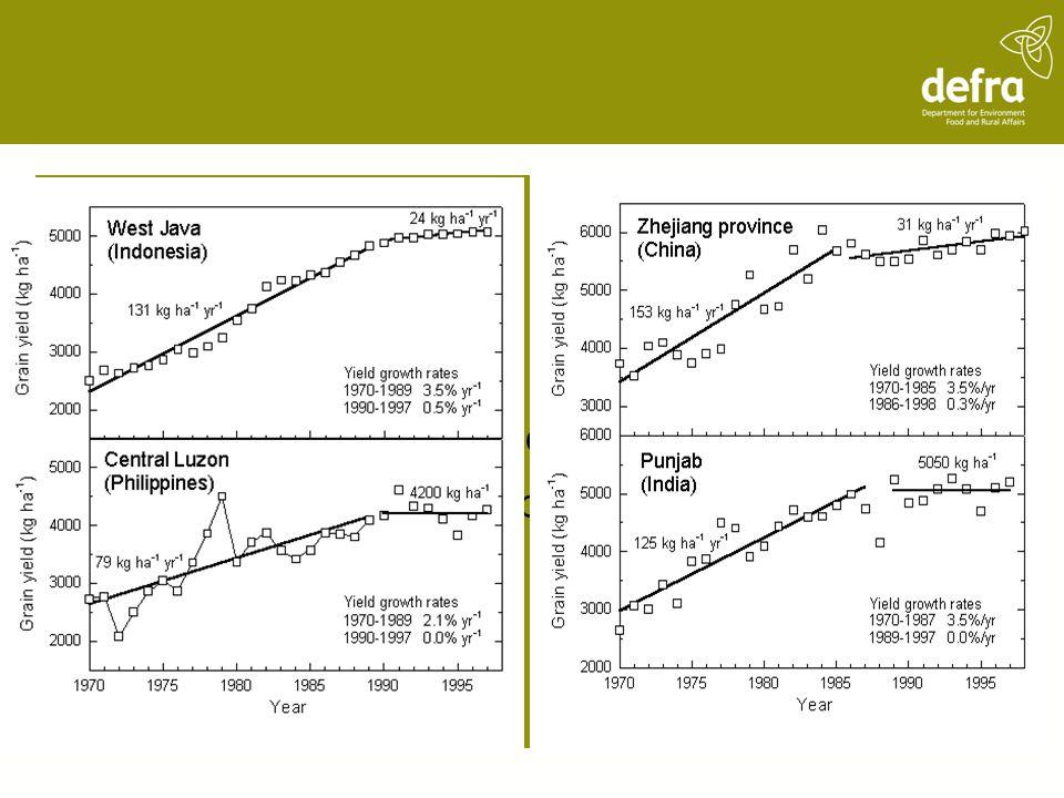 Yield Trends (from Cassman, 1999)
