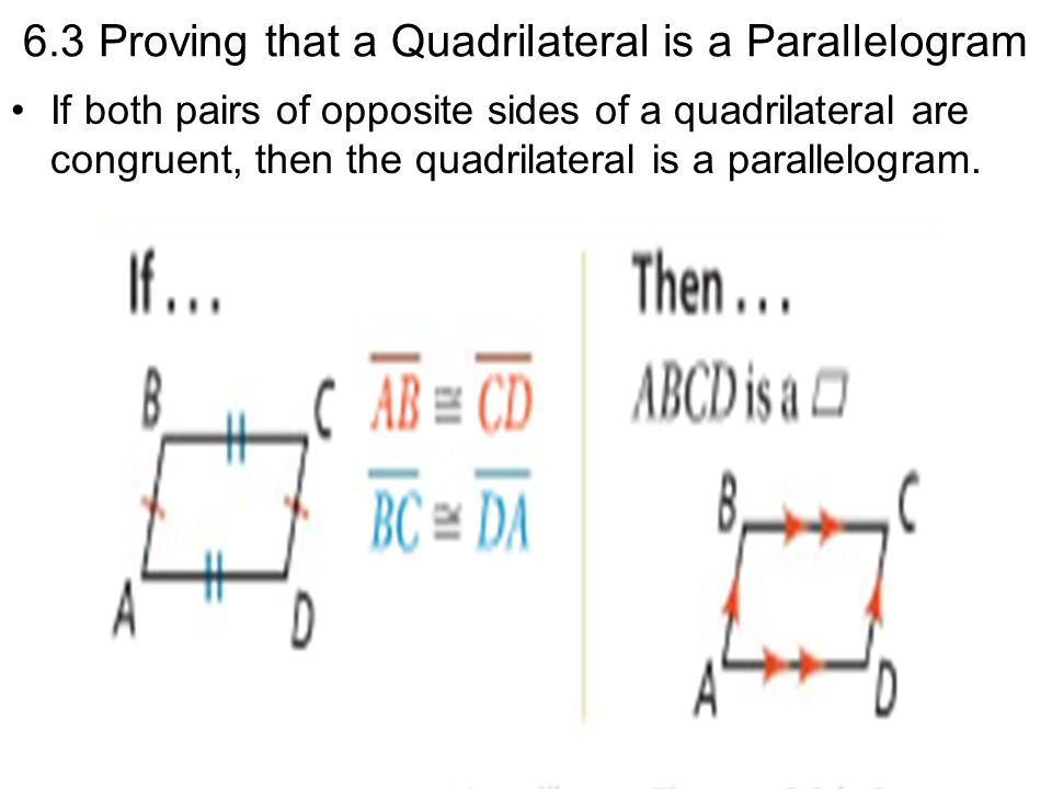 6.3 Proving that a Quadrilateral is a Parallelogram