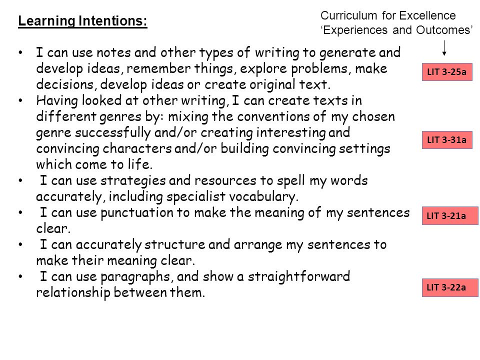I can use punctuation to make the meaning of my sentences clear.
