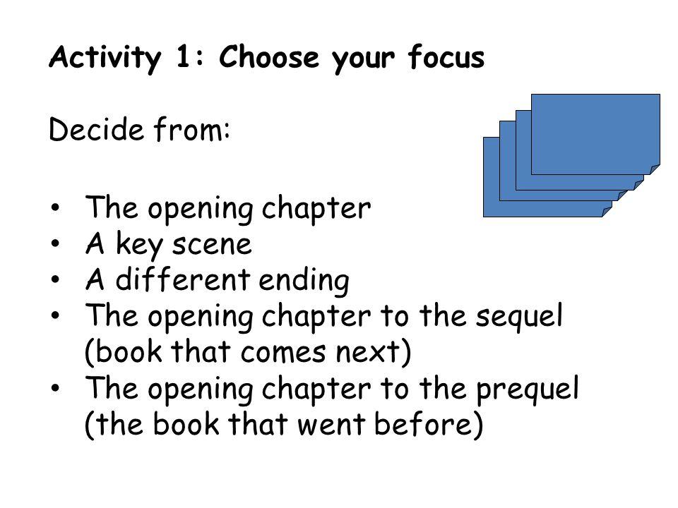 Activity 1: Choose your focus