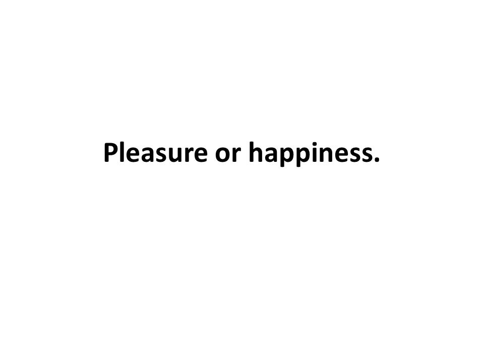 Pleasure or happiness.